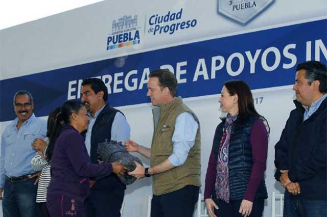 El Ayuntamiento de Puebla continúa con la entrega de apoyos invernales
