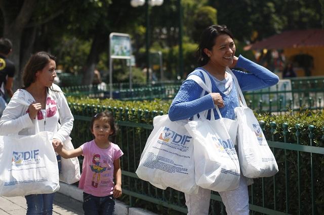 DIF de Atlixco sigue sin fecha para repartir despensas