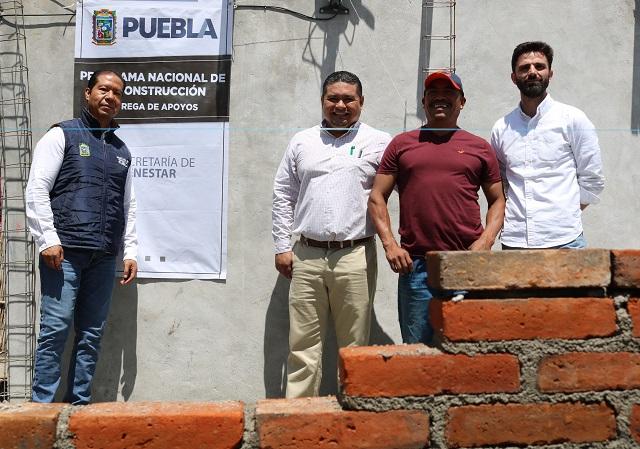 Con apoyo de gobiernos reconstruyen viviendas en 16 municipios de Puebla