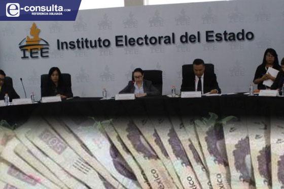 Aumenta IEE apoyo económico a cada representante de partido