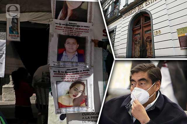 Con huecos pasa ley de desaparecidos de Barbosa y colectivo en plantón