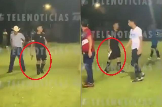 Árbitro hondureño amaga con pistola a jugadores amateur