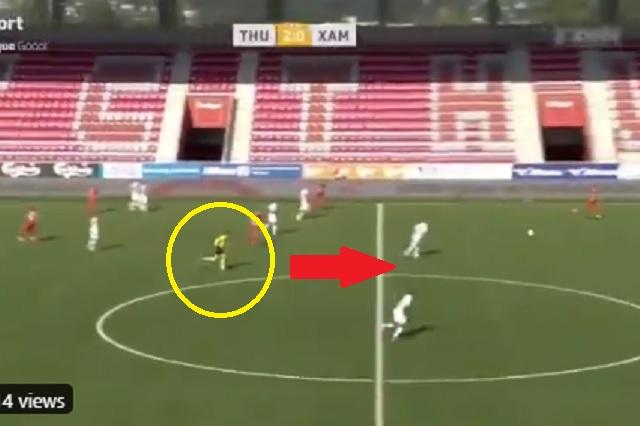 Sorprende árbitro en Suiza por correr más rápido que los defensores