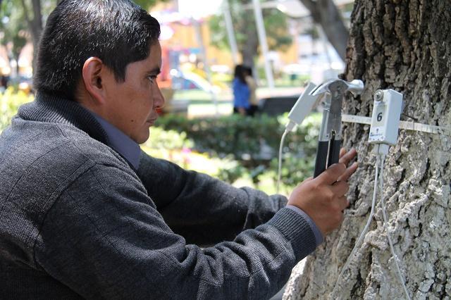 Por seguridad, intervienen en San   Pedro Cholula áreas verdes del zócalo