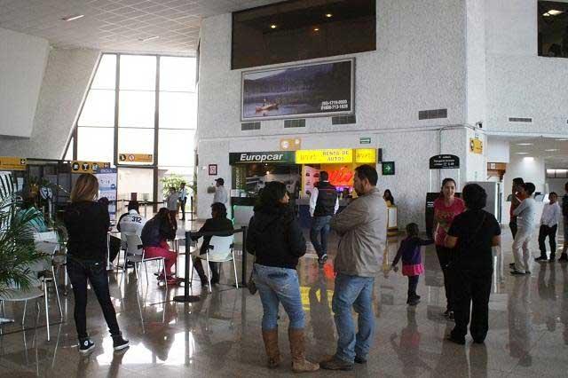 Aumenta 6.6% afluencia de usuarios en Aeropuerto Internacional de Puebla