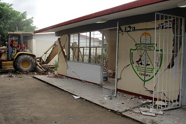 A 10 meses del sismo, siguen sin reconstrucción 4 escuelas