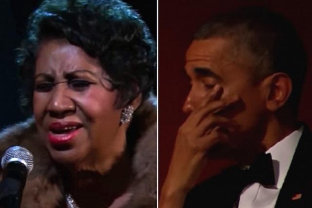 El día que Aretha Franklin hizo llorar a Barack Obama