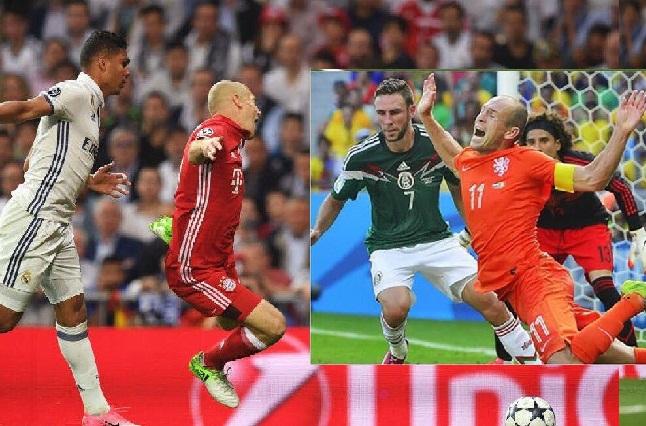 #NoEraPenal Clavado de Robben abre las heridas en afición mexicana