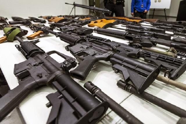 Decomisa el Ejército 2,300 armas en Puebla de 2006 a 2014