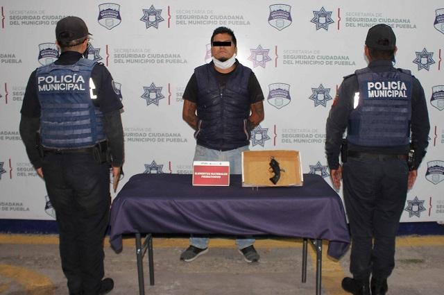 Lo detienen en Puebla por andar armado ilegalmente