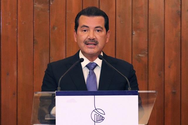 Arriaga pide apoyo económico al Congreso para San Pedro Cholula