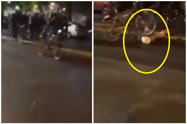 Policía arrolla con bicicleta a manifestante en Seattle: Video