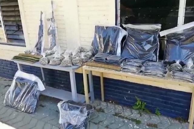 Decomisan arsenal a huachicoleros en la Sierra Norte de Puebla