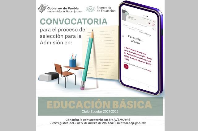 Oferta SEP Puebla 464 plazas en Educación Básica