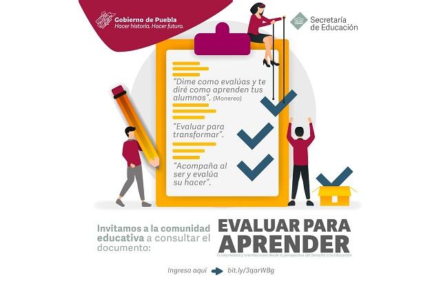 Presenta SEP Puebla guía para la evaluación educativa
