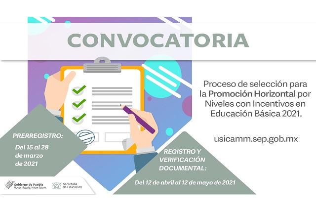 SEP Puebla abre  pre registro para programa de incentivos a docentes