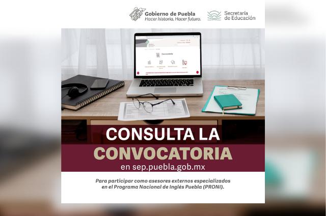 Contratará SEP asesores externos de inglés en Puebla