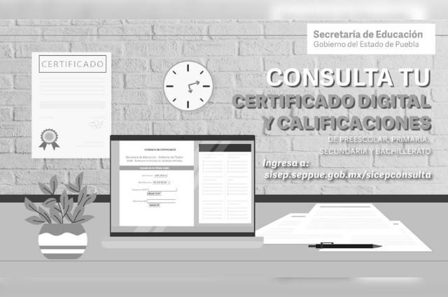 Podrán imprimirse en línea certificados de estudios en Puebla