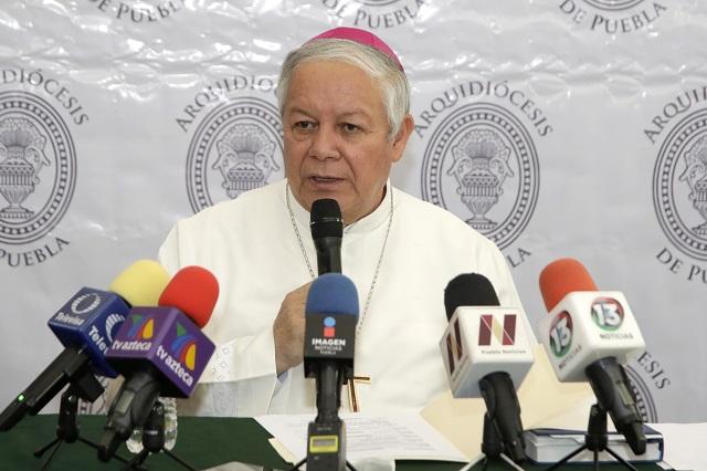 Misa en Catedral sólo por televisión, anuncia arzobispo