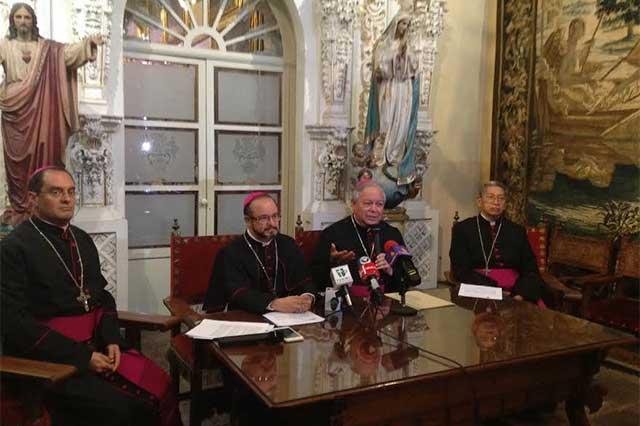Religiosos no refuerzan su seguridad, sólo se encomiendan a Dios: arzobispo