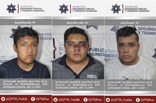 Caen 3 sujetos por robo de autopartes en San José Mayorazgo