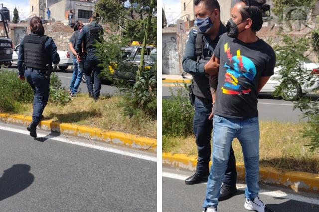Se robó una ambulancia pero luego lo atraparon, en Puebla