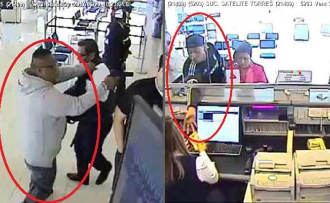 Detienen a 2 tras asaltar banco en Satélite