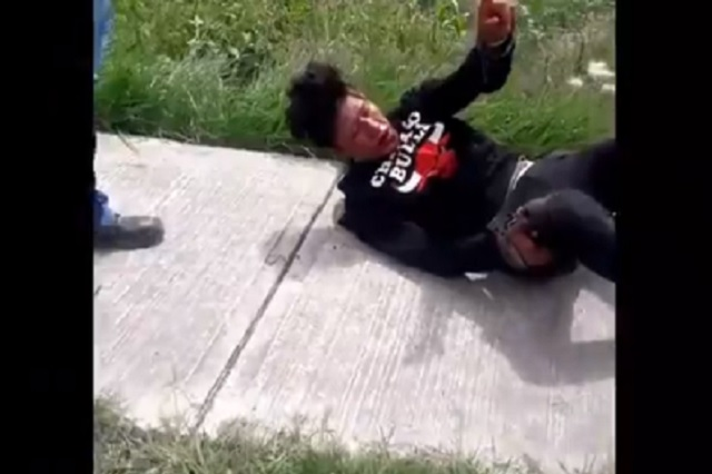 'Tenemos a la rata'; vecinos invitan a golpear a asaltante en Edomex