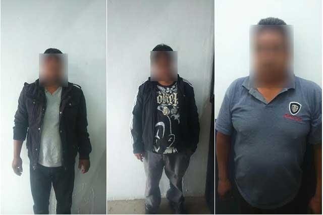 Tras balacera, caen 3 sujetos en Coronango con auto robado