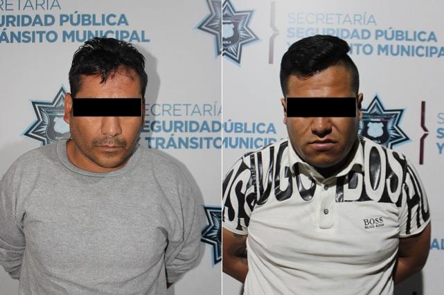 Detienen a cuatro asaltantes de transeúntes en Centro de Puebla
