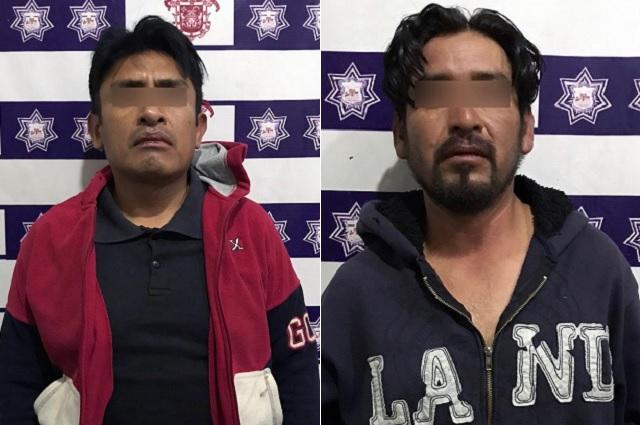 Policía de Huejotzingo detiene a asaltantes de tiendas Oxxo