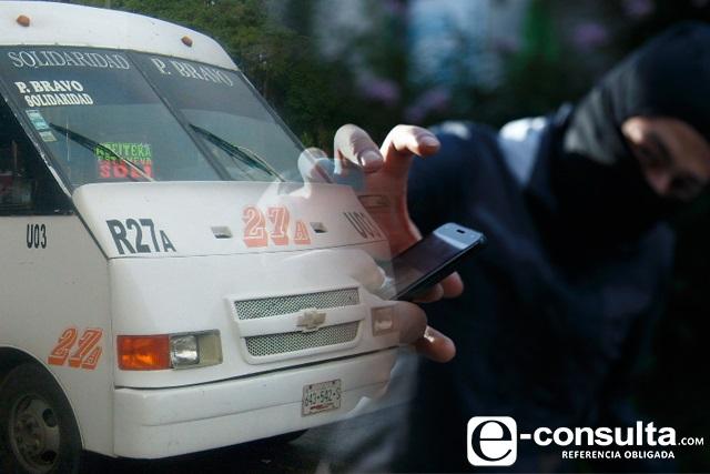 Aumentan 38% asaltos en el transporte de Puebla en un año