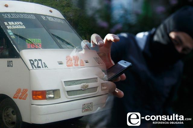 Pegan más asaltos a transporte en Centro, La Paz y Angelópolis
