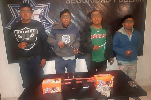 Policía Estatal detiene a banda que asaltó a repartidor de Bimbo
