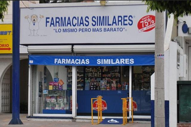 Medicinas y 4 mp se llevan de Farmacia Similar en Puebla