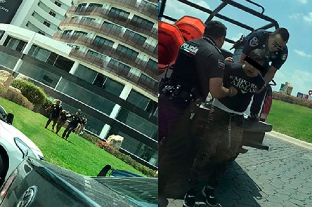 Detienen a dos por asaltar Telcel y echar bala en Lomas de Angelópolis
