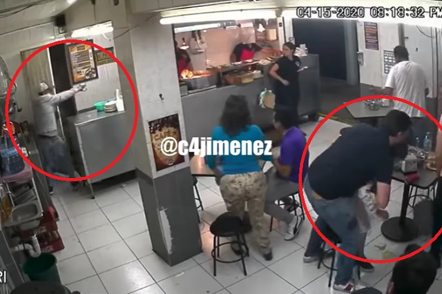 Video: Padre protege  a su hija con su cuerpo en asalto armado