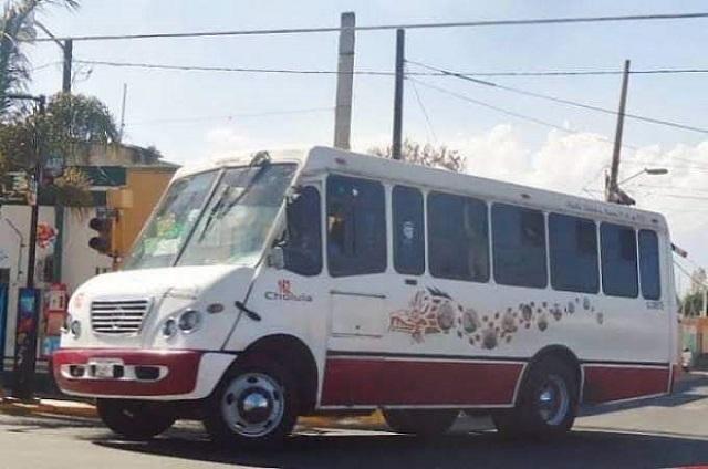 Aumentan asaltos en autobuses Puebla- Cholula y Xoxtla