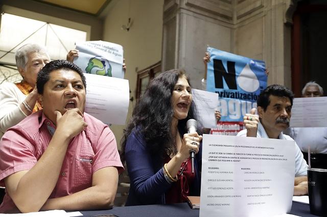 Critican que Morena olvide revertir privatización del agua