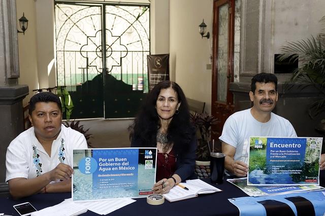 Desairan candidatos foro para analizar servicio de agua potable