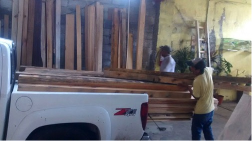 Decomisa Profepa 15.7 metros cúbicos de madera en Izúcar y Puebla