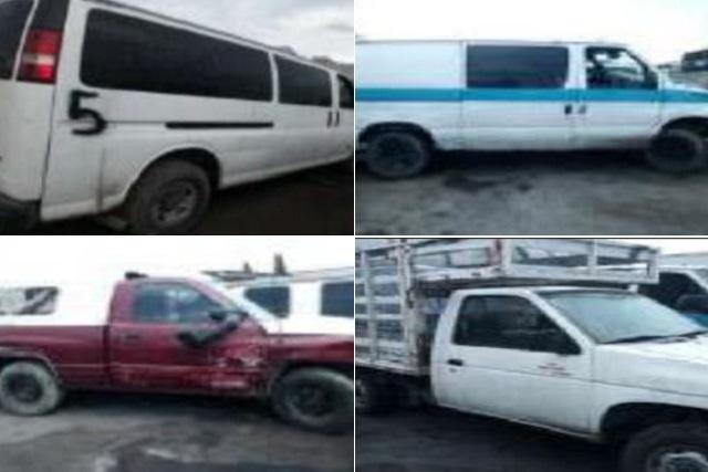 Sedena y SSP aseguran 10 vehículos usados en robo de combustible
