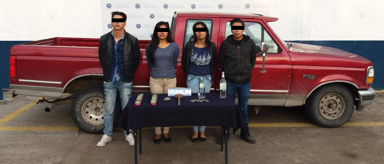 Detienen a 4 por robo a Oxxo en San Ramón Tercera sección