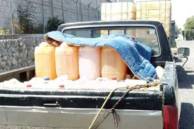 Asegura la Policía Estatal vehículos usados por huachicoleros