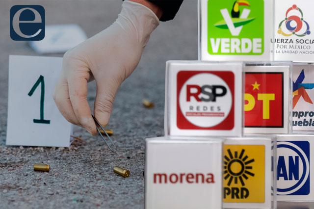 Suma Puebla 7 asesinatos en lo que va del proceso electoral