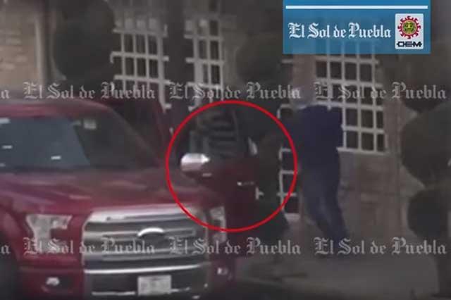 Video capta a sicarios tras la ejecución en Lomas 5 de Mayo