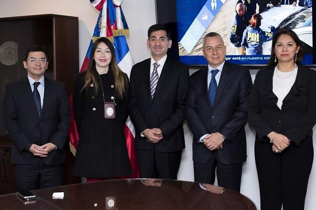 Asiste Carrancá a trabajos de la Policía de Investigaciones de Chile