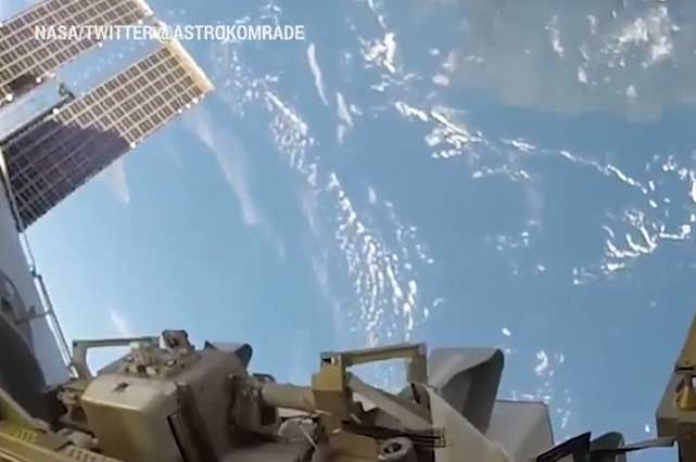Astronauta comparte video de lo bello que se ve la Tierra desde el espacio