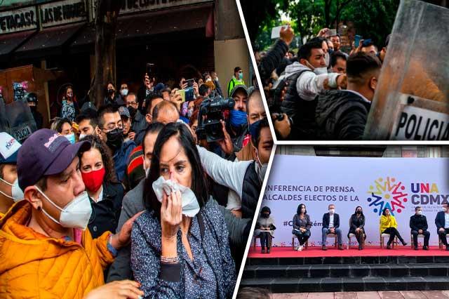 Alcaldes electos denuncian ataque en el Congreso de CDMX