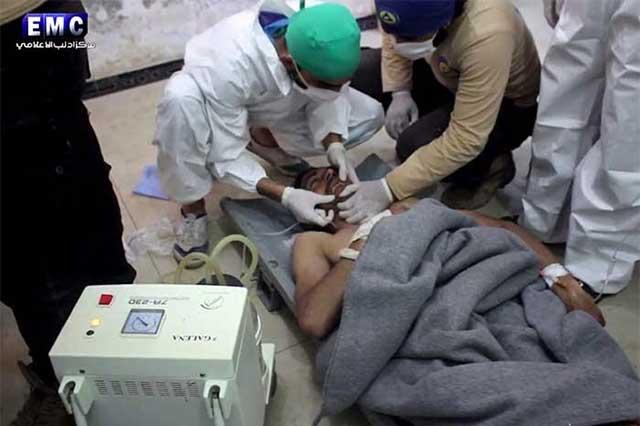 Mueren 58 personas durante ataque químico en Siria